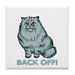 Back Off! Cat Tile Coaster