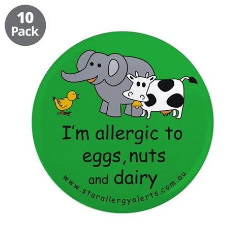 Eggs, nuts and dairy 3.5quot; Button 10 pack Health 3.5 Button 10 pack by CafePress
