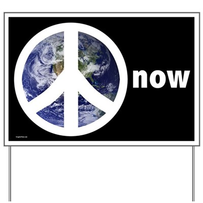 Put this lawn sign for peace up in your front lawn to show everyone who comes down the street that you are tired of waiting for empty promises for peace. You call for peace on earth now</b