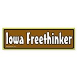 Iowa Freethinker Bumper Sticker