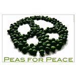 Peas for Peace Large Poster