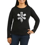 RN Nurses Women's Long Sleeve Dark T-Shirt