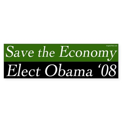 Save the Economy Elect Obama 2012 sticker
