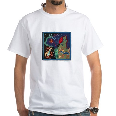 Huichol Art Lizard Dreams Unisex T Shirt
