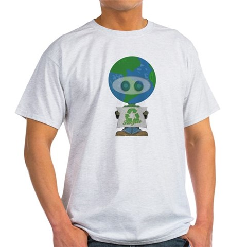 Earth Day Recycle Earth day Light T-Shirt by CafePress