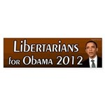 Libertarians for Obama bumper sticker