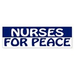 Nurses for Peace (bumper sticker)