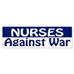 Nurses Against War (bumper sticker)