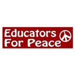 Educators for Peace bumper sticker