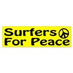Surfers for Peace bumper sticker