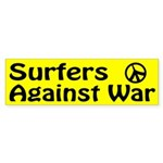 Surfers Against War bumper sticker