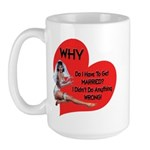Pinup Bride Large Mug