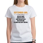 September Girl Hated By Many T-Shirt