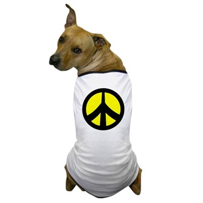Peace Sign  (yellow/black)