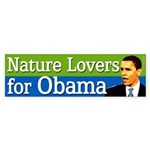 Nature Lovers for Obama bumper sticker