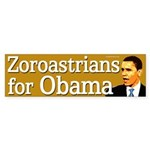 Zoroastrians for Obama bumper sticker