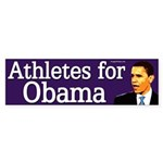 Athletes for Obama bumper sticker