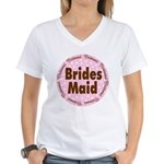 Pink Polka Dot Wedding Party Bridesmaid T Shirts