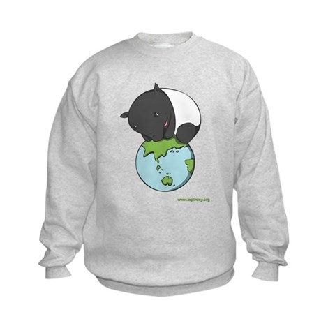 : 'Tapir on World' Animal Kids Sweatshirt by CafePress