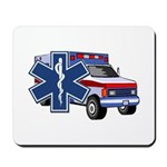 EMS Ambulance includes a blue star of life.