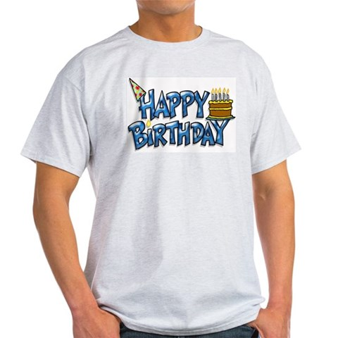 Birthday Boy Ash Grey T-Shirt Cool Light T-Shirt by CafePress