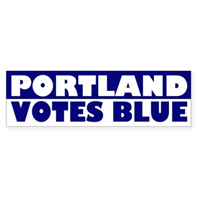Portland Votes Blue (bumper sticker)