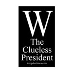 W: The Clueless President car sticker