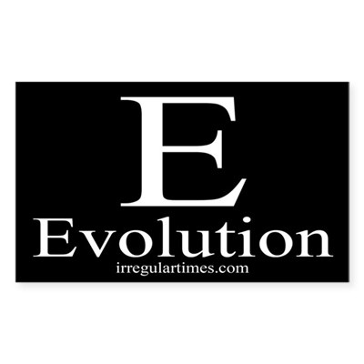E: Evolution (bumper sticker)