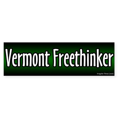 Vermont Freethinker Bumper Sticker