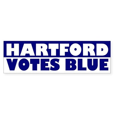 Hartford Votes Blue (bumper sticker)