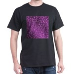 purple, shiny, stars, metal, structure, li T-Shirt