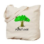 Plant A Tree Tote Bag, organic gifts and apparel and nature themes.
