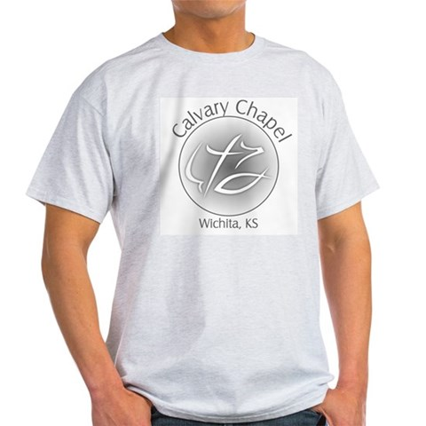 Calvary Chapel Ash Grey T-Shirt Dove Light T-Shirt by CafePress