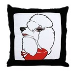 Female Poodle Throw Pillow