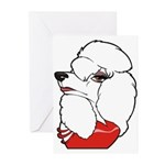 Female Poodle Greeting Cards (Pk of 10)