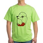 Female Poodle Green T-Shirt
