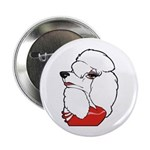 "Female Poodle 2.25"" Button (10 pack)"