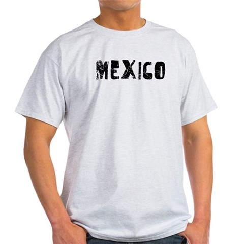 Mexico Faded Black Vintage Light T-Shirt by CafePress