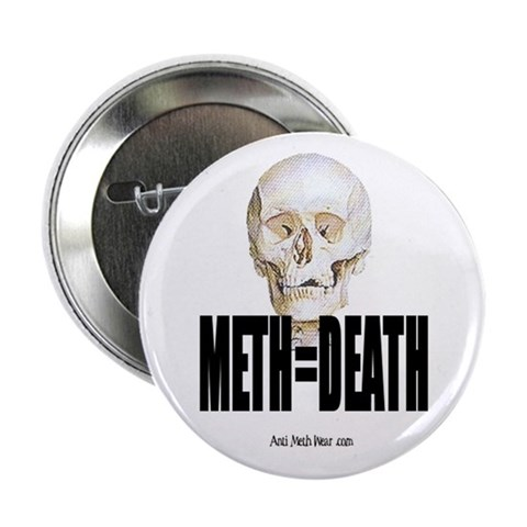 10 Pack Meth Equals Death Button Anti 2.25 Button 10 pack by CafePress