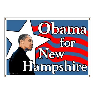 New Hampshire for Barack Obama for President of the United States in 2008! (Pro-Obama Banner)