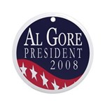 Al Gore 2008 Xmas Tree Ornament