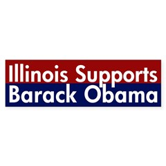 Illinois for Obama bumper sticker