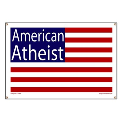 American Atheist (Banner with an American Flag Design)