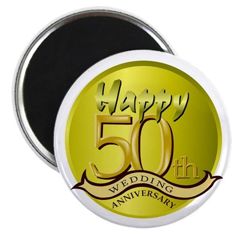 50th Wedding Anniversary  Love 2.25 Magnet 10 pack by CafePress