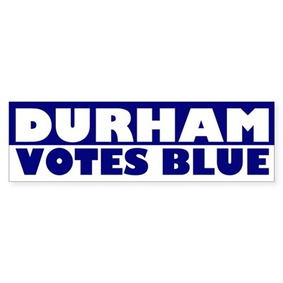 Durham Votes Blue (bumper sticker)