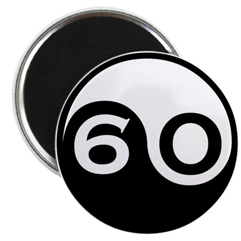 60th Birthday  60th birthday 2.25 Magnet 10 pack by CafePress
