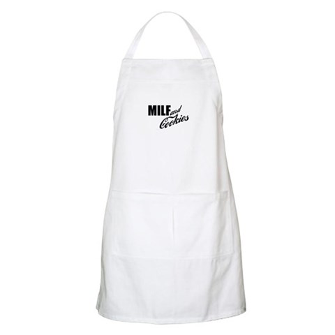 MILF Cookies BBQ Yellow Apron by CafePress