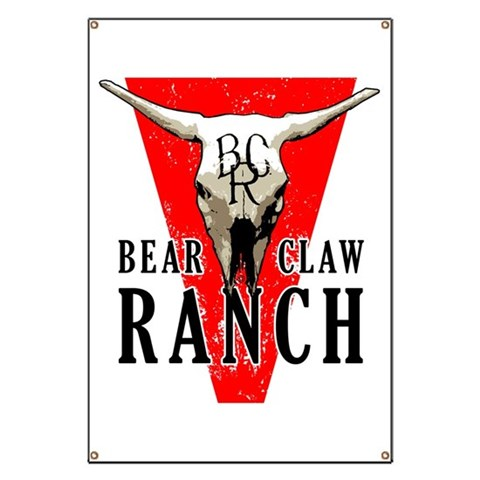 Bear Claw Ranch  Don Banner by CafePress