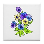 Flower Gift Tile Coaster