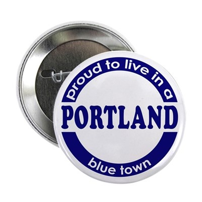 Portland: Blue Town Button